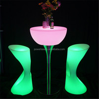 7 color change led light up table and chair cube party furniture rechargeable