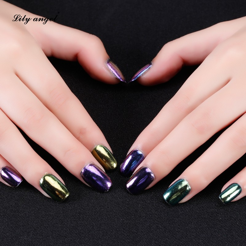 Lilyangel Hot Sale Chrome Powder Nail,Nail Polish Metallic Mirror ...