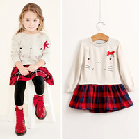 Boutique Little Girl Clothing Embroidery Designs For Kids Frocks Winter Knitted Dress