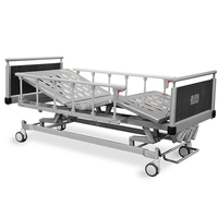 Three function metal hospital bed , hospital bed crank , medical bed
