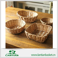 2015 New can be customized storage large wicker basket with lid