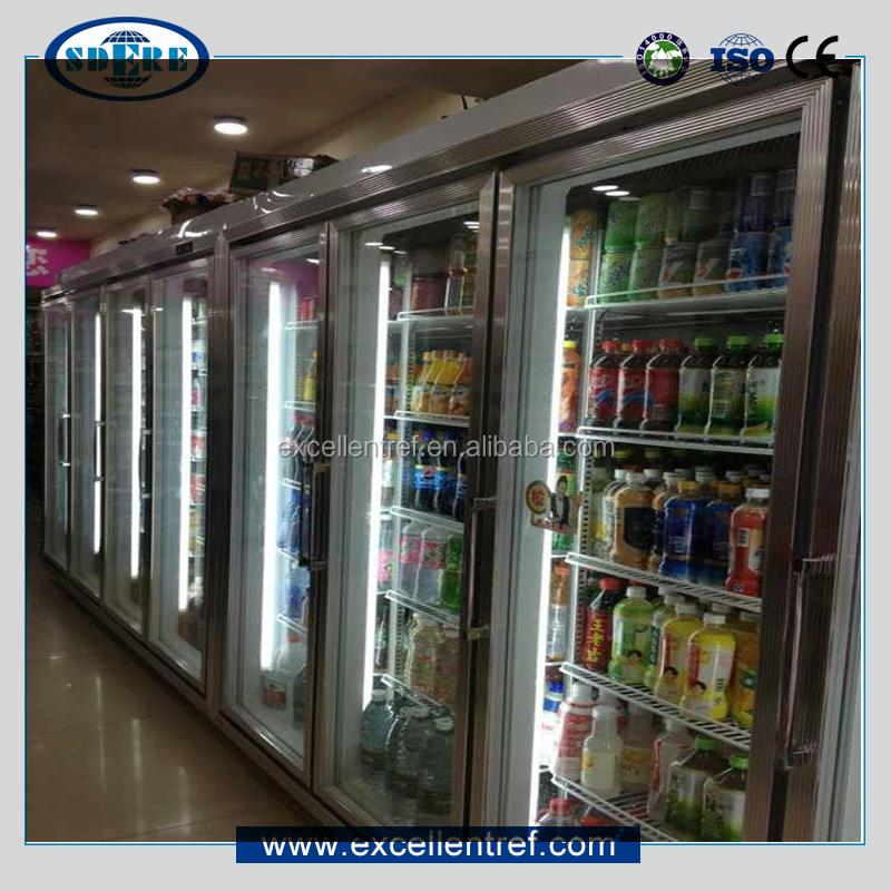 Supermercado Comercial Porta De Vidro Congelador Da