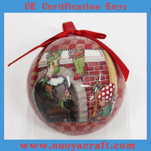 Fashional painting xmas ball for christmas hanging ornament