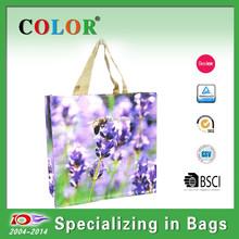 purple new style pp woven bag,fashional design shopping bag