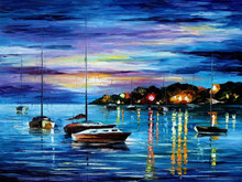 Street Scenes Knife Painting Style Home Decoration Art Pictures 44811
