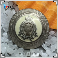 alloy metal dome button with shank for blazers
