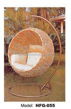 UGO Furniture Christy Garden brown PE wicker Rattan Hanging swing chair Outdoor Decking Furniture UGO-G055