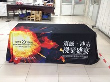 Factory Print Advertising Table Throw, Table cloth