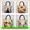 new style leisure fashion female package printing handbag lovely lunch bag beauty small canvas bag R482