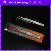 esd stainless tip tweezers/ antistatic curved tweezer