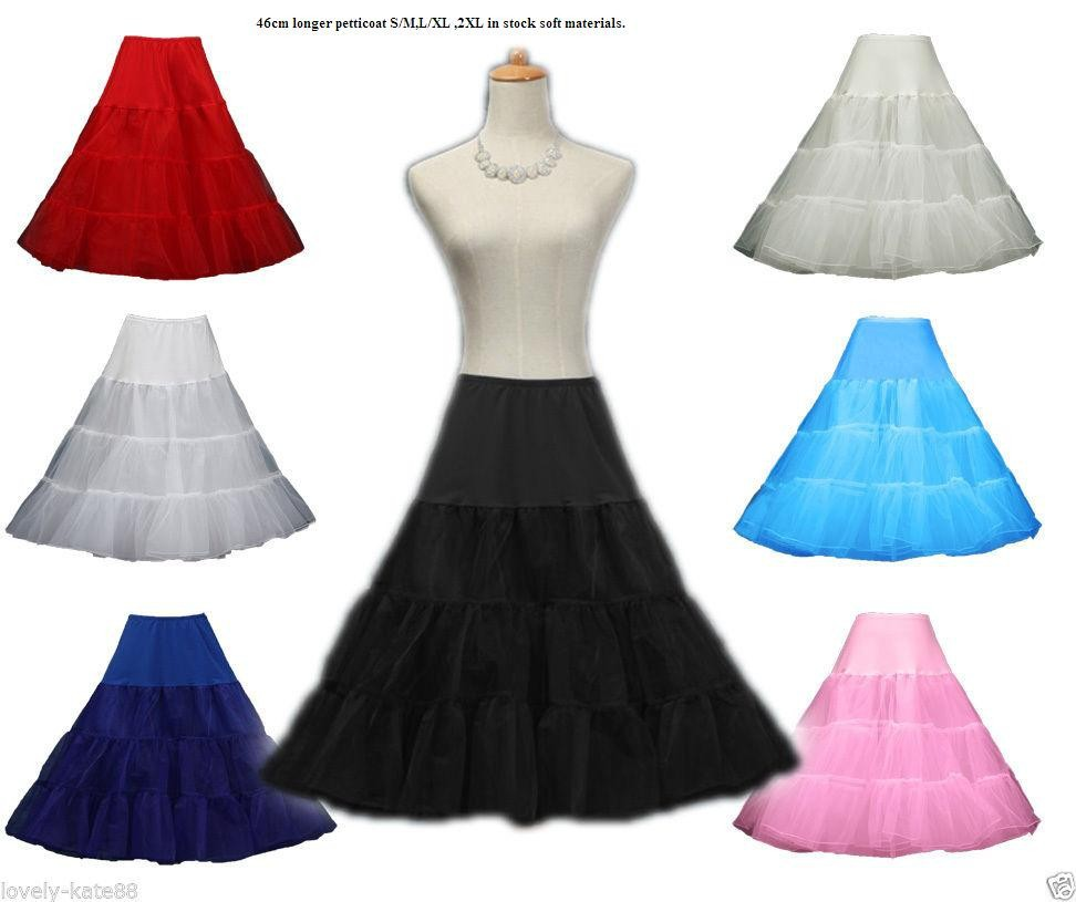 Brand 46cm New Retro Underskirt Swing Vintage Petticoat Fancy Skirt Rockabilly Tutu