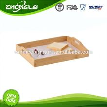 Custom Design High Quality Reasonable Price Clear Lucite Serving Tray