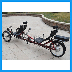 Tadpole Style Electric Power Tandem Tricycle