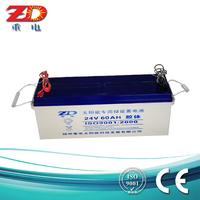 24v 60ah solar street light battery rechargeable lead acid battery