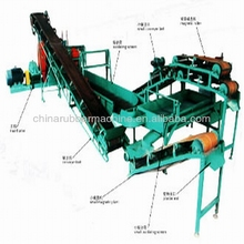 waste tyre machinery rubber machinery/energy efficient XKP series scrape waste tire relycling line