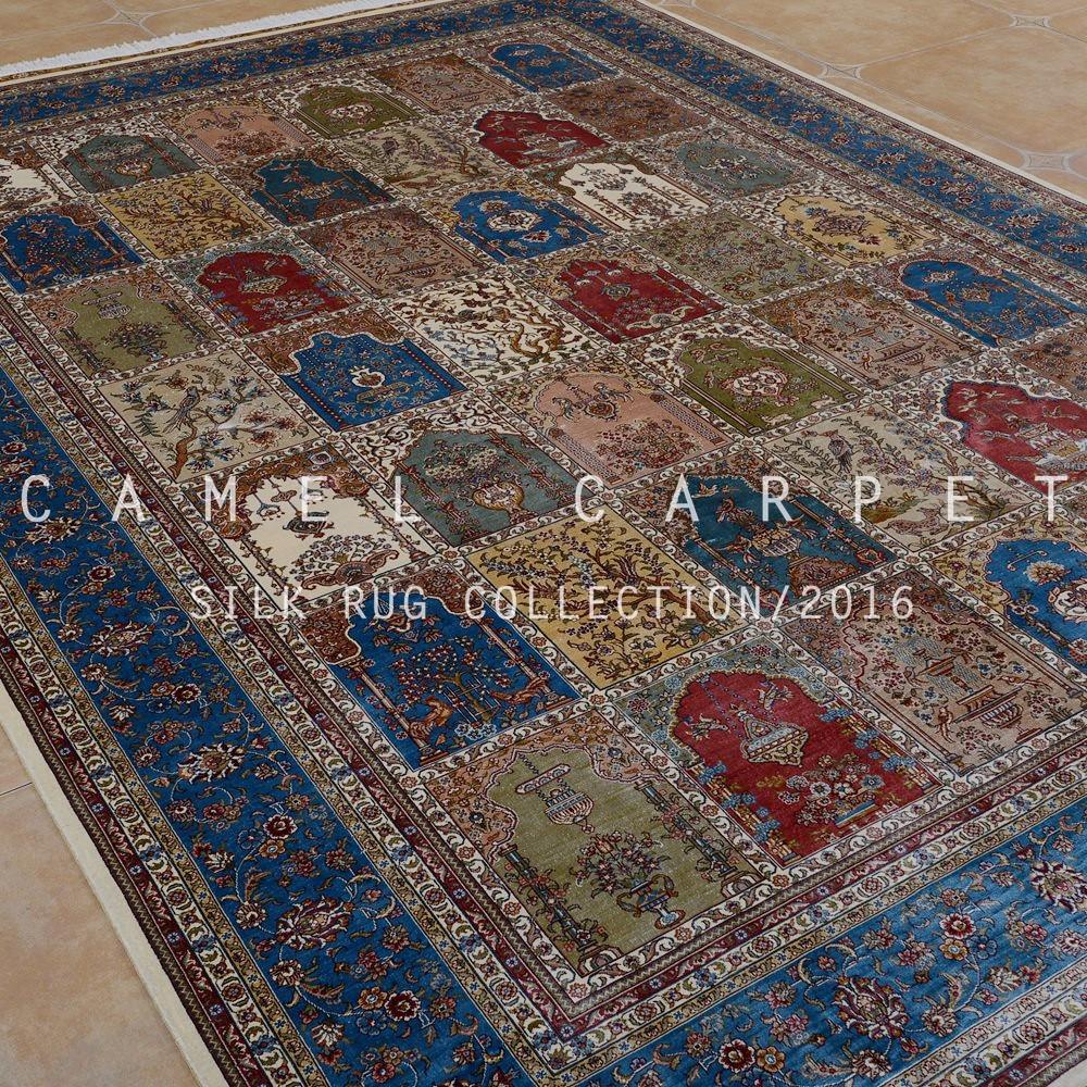 Quattro stagioni di seta tappeto di grandi dimensioni 7x10 annodato ...