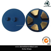 Super Sharp Floor Concrete Abrasive Tools/Segment Grinding disc with double nail