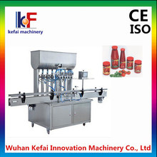 Automatic tomato ketchup bottle filling machine with piston dosing filling system