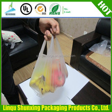 supermarket bag for carring / cheap t-shirt bag / custom plastic bag printing