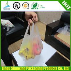 supermarket bag for carring / cheap t-shirt bag / custom plastic bag printing