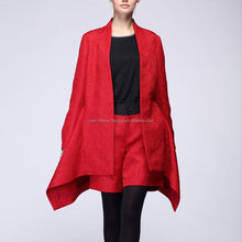 Fashion hot sell young ladies woolen overcoats 2015
