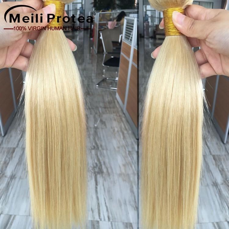 European Hair Color 613 Blonde Color 60 Blonde Brazilian Hair