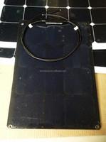 30W adhesive thin film flexible solar panel Full black tedlar
