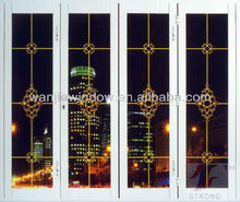 hot sell decorative folding doors design modern style alunminum partition