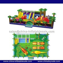 2015 New Product Giant dinosaur inflatable playground , giant inflatable bouncer H3-0042