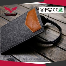 Portrait leather felt envelope laptop case laptop bag laptop sleeve for Macbook 15inch