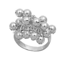 925 Sterling Silver Fruits of the Poisonous Tree Bead Ring Jewelry