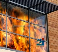 Jinyao 8mm-15mm 2 hour 3 hour Fire Rated Window Glass
