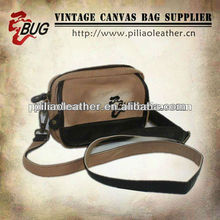 Mini canvas shoulder bags in spary washing for men and women