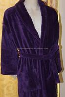 100%cotton velour bathrobe