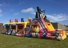 hot!!! wholesale inflatable L e g o Obstacle Course