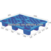 1000*800*145mm Single Faced Nestable Marine Cargo Plastic Pallet