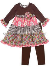 Little Turkey Thanksgiving fall outfit for little girls/newborn 95% cotton