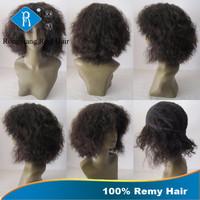 Cheap Natural Real Remy Hair Afro Kinky Short 100% Human Hair Wig