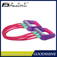 Environmental Upper Body Workout Gym Equipment Interchangeable Rubber Chest Expander Kit
