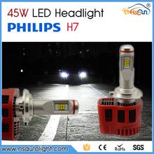 High Lumen H7 car led bulb headlight H4/H7/H8/H9/H10/H13/HB4/HB3 auto led headlight bulbs for cars and motorcycles