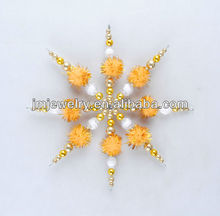 2015 New Warm color for cute Christmas snowflake ornament
