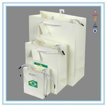Alibaba Chian Factory machine made paper bag custom brand bags & printed company LOGO paper bag