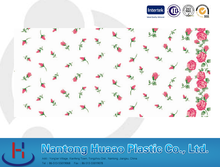 pvc transfer printing table cover with good basis film for house decorative