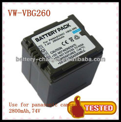 For Panasonic rechargeable li-ion battery VW-VBG260 HDC-HS300 TM300