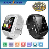2015 Black/white colour wrist watch Phone calls reminding camera/mp3/watch pair wrist watch smart
