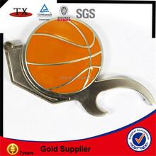 bottle opener basketball keychain