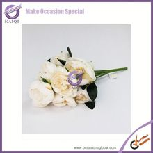 18293-6 white peony artificial flower wholesale wedding fresh cut flower