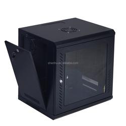 18U Wall Mount Network Server Cabinet Rack Enclosure Glass Door Lock