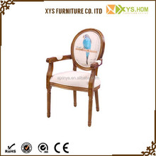 French style cheap wooden armchair, antique baroque armchair