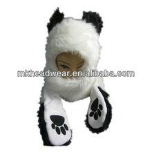 animal faux fur plush bear hooded hat